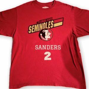 Vintage deion Sanders FSU Jersey Tee Shirt